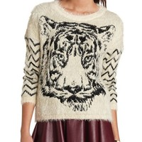 Fuzzy Knit Tiger Sweater