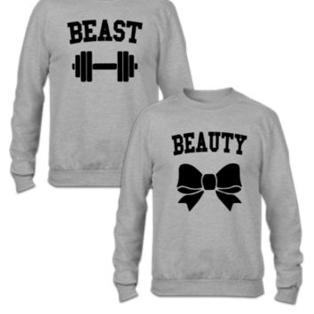 Beast And Beauty - Couple Sweatshirt