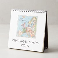 Vintage Maps 2015 Calendar by Anthropologie Multi One Size Gifts