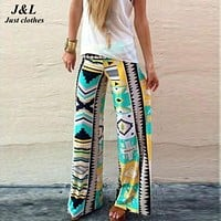 Plus Size Women Print Sporting Leggings 22 Colors Leggings Indian Style Casual Workout Fitness Pants Loose Elastic Trousers