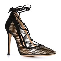 Gianvito Rossi Mesh Panel Pumps - The Webster - Farfetch.com