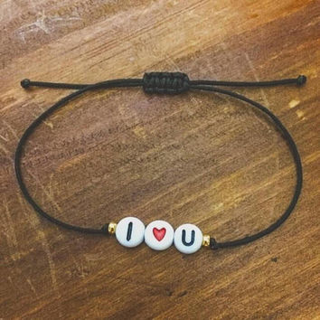 I Love You Friendship Bracelet - Best Friend Gift - Gift for Her - Best Friend Bracelet - Sister Bracelet - I Heart U - Gift for Women