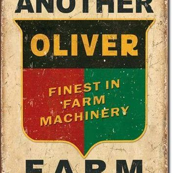 Tin Sign -Another Oliver Farm