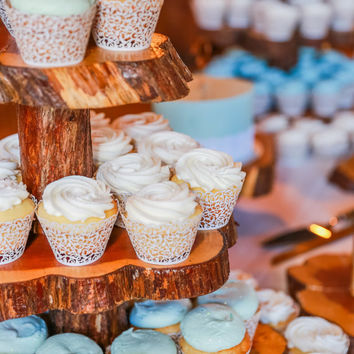 Custom Made Three Tier Cedar Cupcake Stand