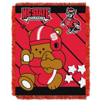 N.C. State College Baby 36x46 Triple Woven Jacquard Throw - Fullback Series