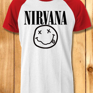 Nirvana logo Baseball tees-1nny Unisex Raglan Tees For Man And Woman / T-Shirts / Custom T-Shirts / Tee / T-Shirt