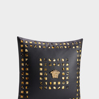 Versace Medusa Studs Silk Cushion - Home Collection | US Online Store