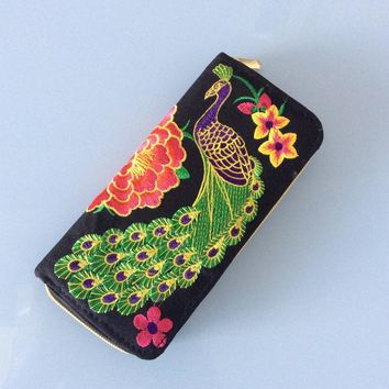Flower can be loaded into the phone women bag multi-card bit wallets
