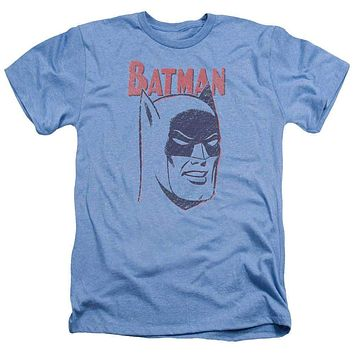 Mens Batman Crayon Man Heathered Tee Shirt