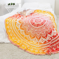 Fire Ombre Mandala Red & Yellow Tapestry