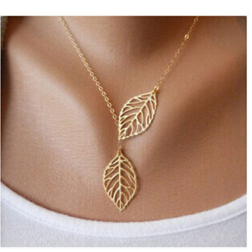 Hot Fashion Sliver Gold Plated Simple Chain Bar Necklace Peace Dove Charm Pendant Necklaces women gift