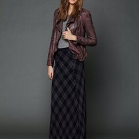 Free People Cameron Plaid Maxi Skirt