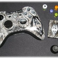 Skyrim xbox 360 wireless controller shell kit for sale @  www.1stopairbrush.com