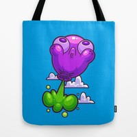 Balloon Toot Tote Bag by Artistic Dyslexia | Society6