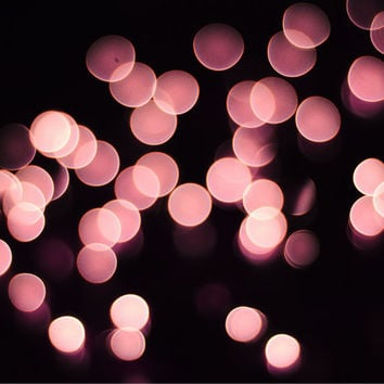 Abstract Photography Print, Sparkle, Bokeh Lights, Pink Glitter, Pink Wall Art