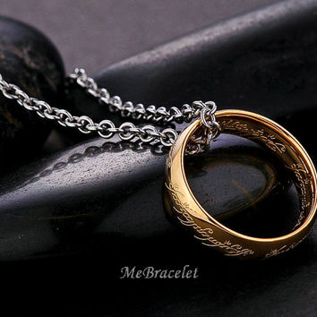 Lord of the Rings, The One Ring, Movie charm jewelry, ring, necklaces, the Ring Necklace 100% High Quality N-5.