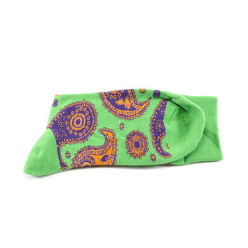 Dealer's Choice – Green paisley socks