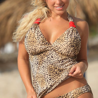 PIRATA Couture Leopard Tankini Plus