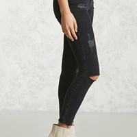 Skinny Mid-Rise Ankle Jeans