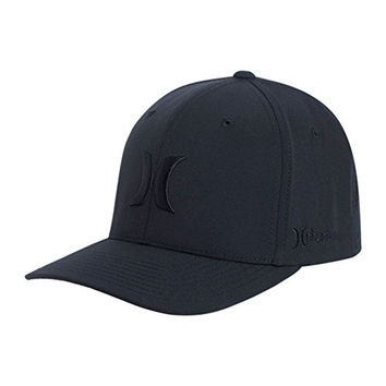 Hurley Men's Phantom Boardwalk Hats Flex Fit, Black, Large/X-Large
