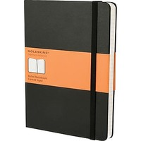 "Moleskine Classic Colored Notebook, Extra Large, Ruled, Hard Cover, Black, 7.5"" x 10"" 