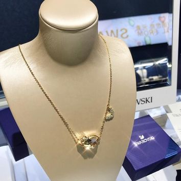 HCXX 19July 421 Swarovski PETS PIG cute and delicate women's necklace the birth of the pig cute clavicle chain