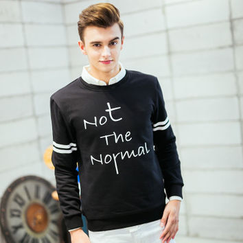 Autumn Hoodies Set Pullover Round-neck Casual Korean Men's Fashion Jacket [6524649859]