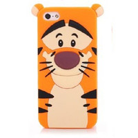 3D Tigger Silicon Phone Cases Cover For iPhone 7 4S 5 5S SE 6 6s Plus