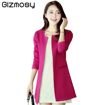 Spring 2016 Ladies Coats plus size silk slim cardigan windbreaker women trench coat for women overcoat BN995