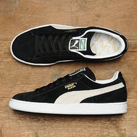 PUMA Pigeon Women Men Casual Running Sport Shoes Sneakers Black white