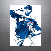 Jake Arrieta Chicago Cubs Poster