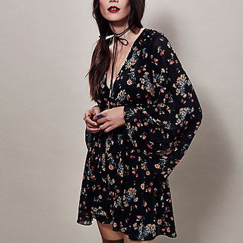 Free People Womens Lilou Printed Mini Dress