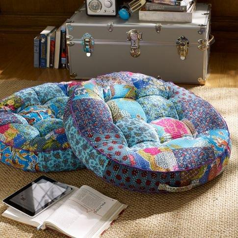 Kantha Cloth Floor Pillow, Cool from PBteen Furniture