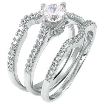 Best 3 Band Engagement Ring Products on Wanelo