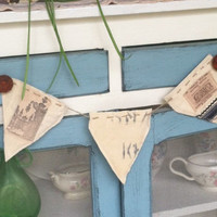 Old world shabby chic flour sack banner/backdrop