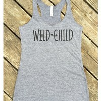 Women's Wild Child Tri-Blend Tank