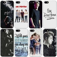 Niall Horan One Direction Black Plastic Case Cover Shell for iPhone Apple 4 4s 5 5s SE 5c 6 6s 7 Plus