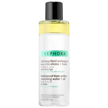 Waterproof Triple Action Cleansing Water + Oil - SEPHORA COLLECTION | Sephora