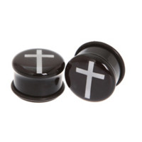 White Cross Plugs 2 Pack