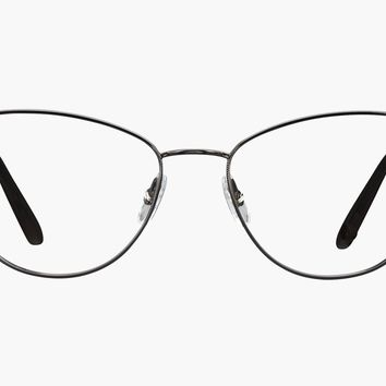 Garrett Leight - Olive Gunmetal Black Eyeglasses / Demo Lenses