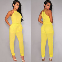 Yellow Drawstring Jumpsuit