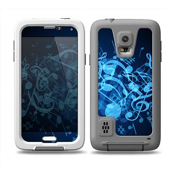 The Glowing Blue Music Notes Skin Samsung Galaxy S5 frē LifeProof Case