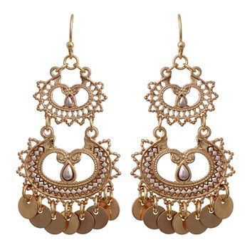 Gypsy  Indian Dangling Earrings