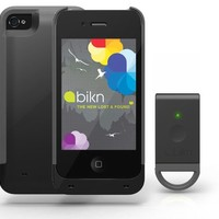 BiKN Locator Device for iPhone 4/4S Case and Tag (Black and Grey)