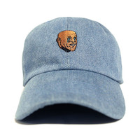 Crying Meme Dad Hat in Denim - Low Stock