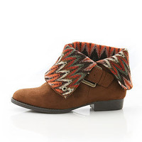Indie Cuff Boots - Faux Suede Boots at Pinkice.com