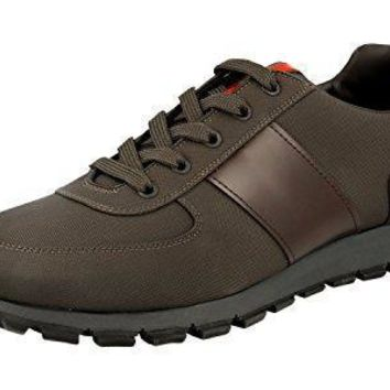 Prada Men's 4e2718 Lq3 F0659 Leather Sneaker