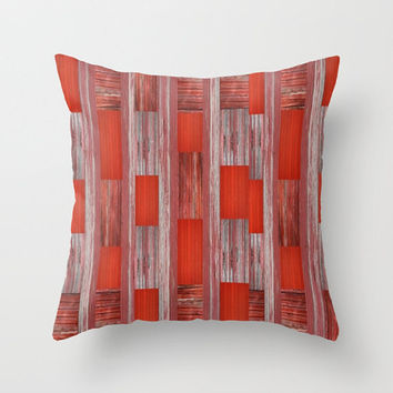Rustic Quilt Wood Design Pillows Barn Decorative Pillows with Faux Down Insert Country Chic Pillows Red Barn Pillows Country Living Pillows