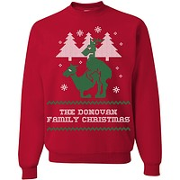 """Personalized Reindeer """"Ugly Christmas Sweater"""" Design T-Shirt & Apparel"""
