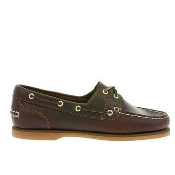 Timberland 2-Eye Classic - Brown Leather Boat Shoe